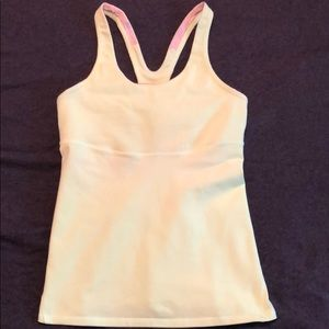 Lululemon Crossback Tank 8 clear mint (br yellow)